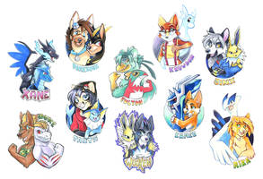 Pokemon Badges Batch 1