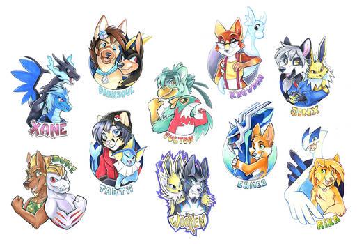 Pokemon Badges Batch 1
