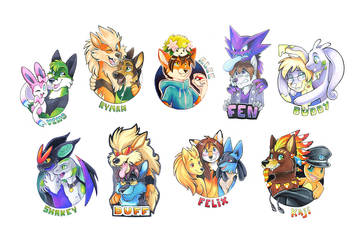 Pokemon Badges Batch 2