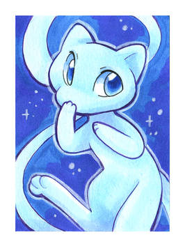 Blue Mew Art Card