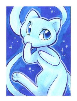 Blue Mew Art Card