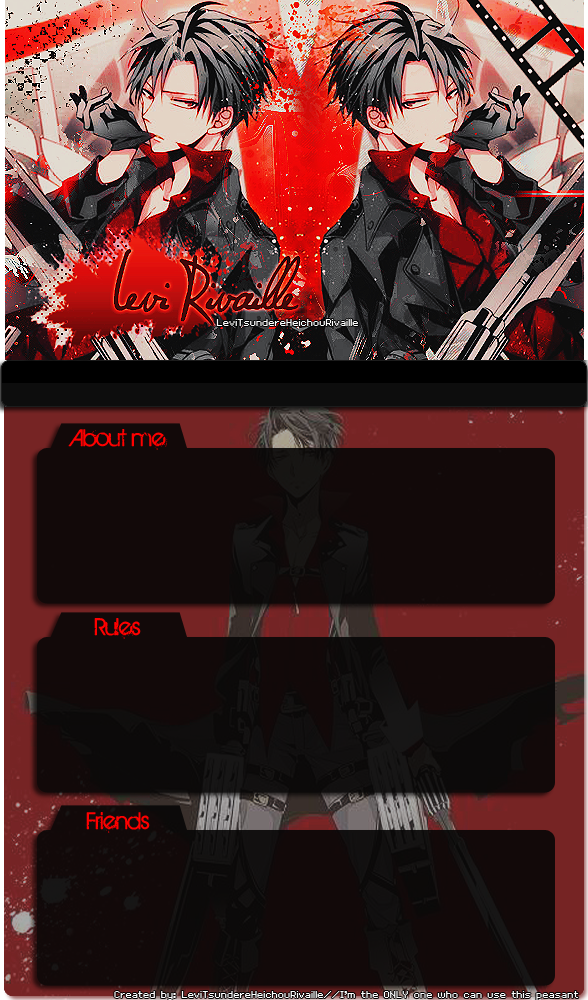 Rivaille FFSNG Template by MikurinChii