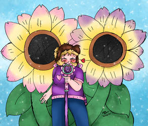 Sweet little sunflower
