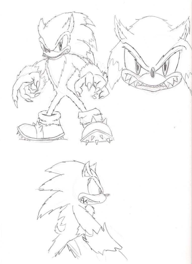 How To Draw Findlmfao Sonic The Werehog Coloring Pages