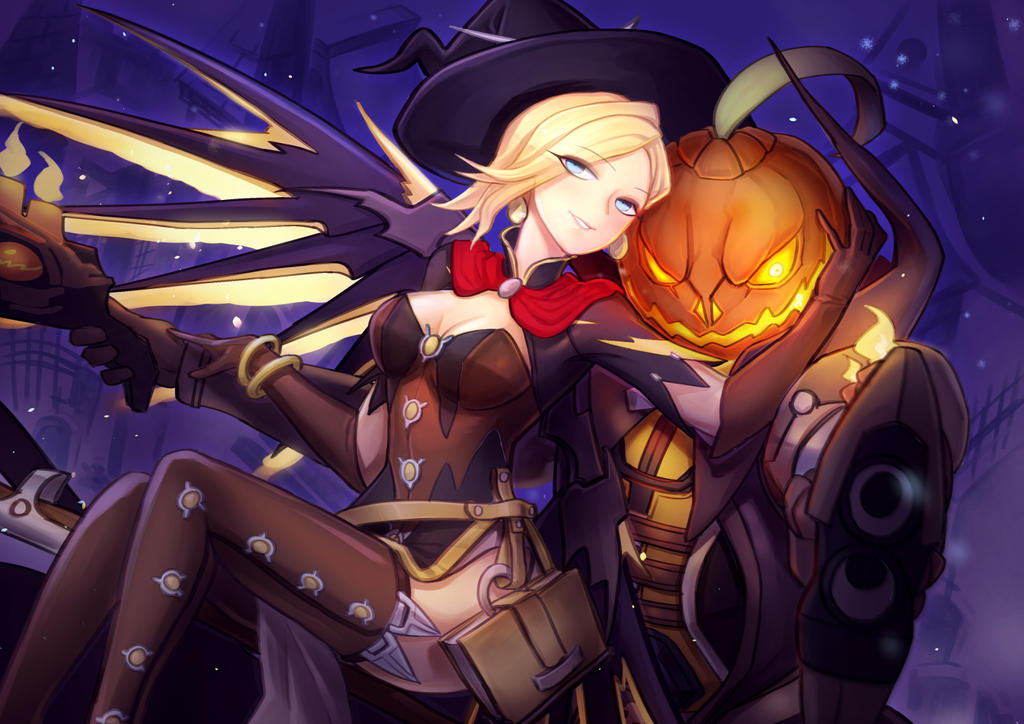 Mercy Witch with Reaper (Overwatch 2016 halloween) by Lochris on ...