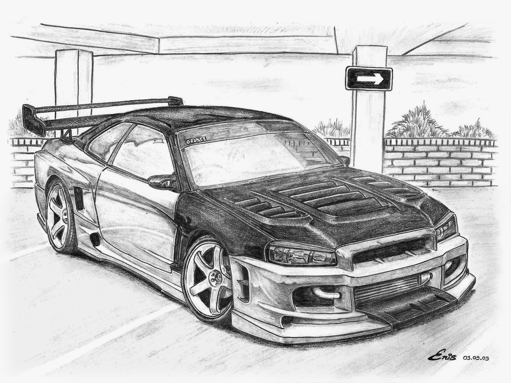 nissan r33 gtr coloring pages - photo#41