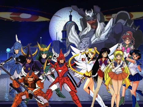 Sailor Moon and Ronin Warriors by AnimeJason2010