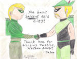 A Tale of Two Green Arrows: Stephen Amell Send-Off by AnimeJason2010