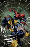 Savage wolverine and spider-man