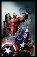 Iron Man And Cap by richyunspoken