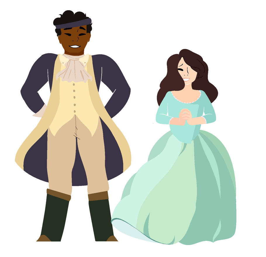 Hercules Mulligan and Eliza Schuyler Hamilton by Clarity83
