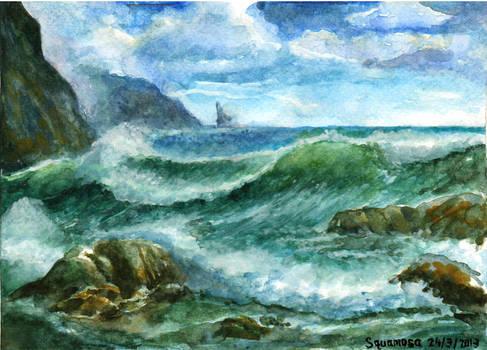 Landscape lesson #2 : Seascape