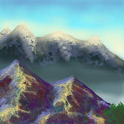 Saphire Mountains by The-Big-Dish