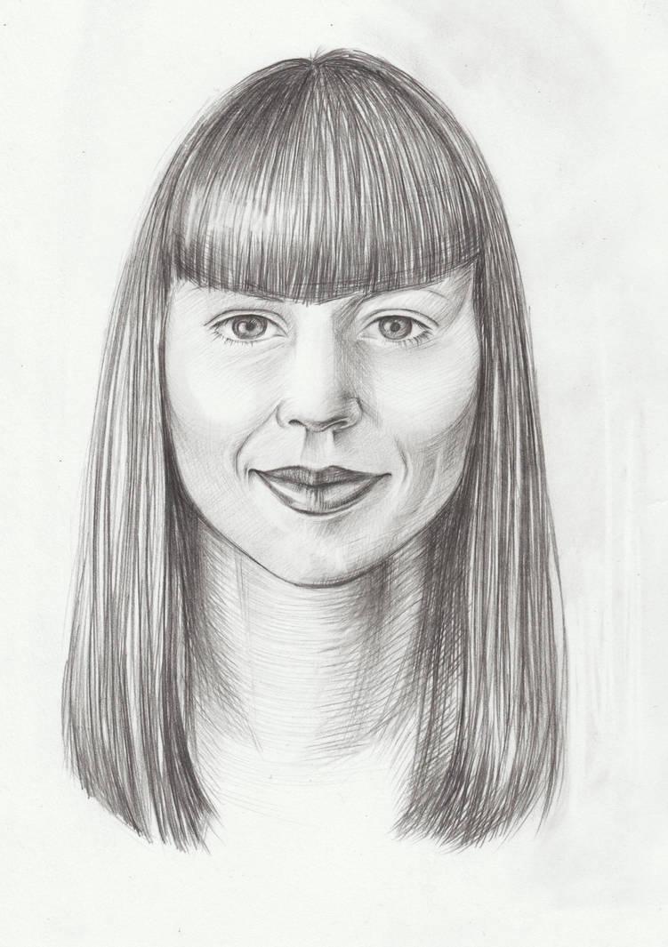Face of woman by Weallart