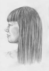 Profile of woman by Weallart