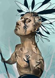 Mayan digisketch by Enchanters-Blood