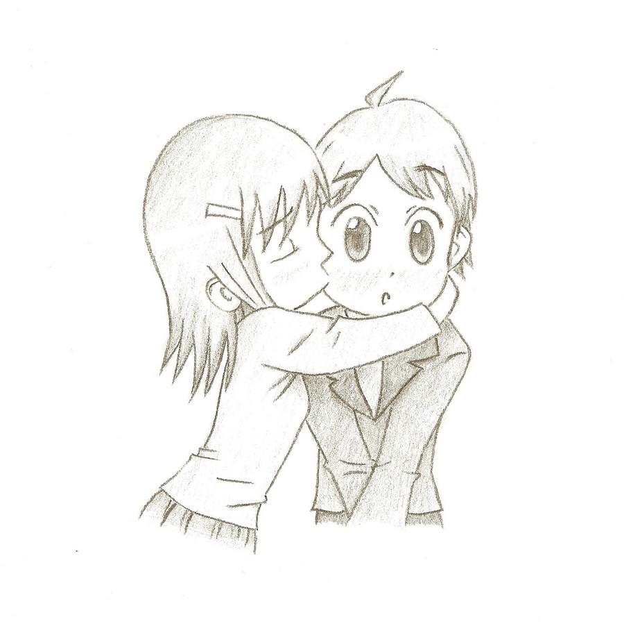 chibi surprising kiss by prolificie on deviantart