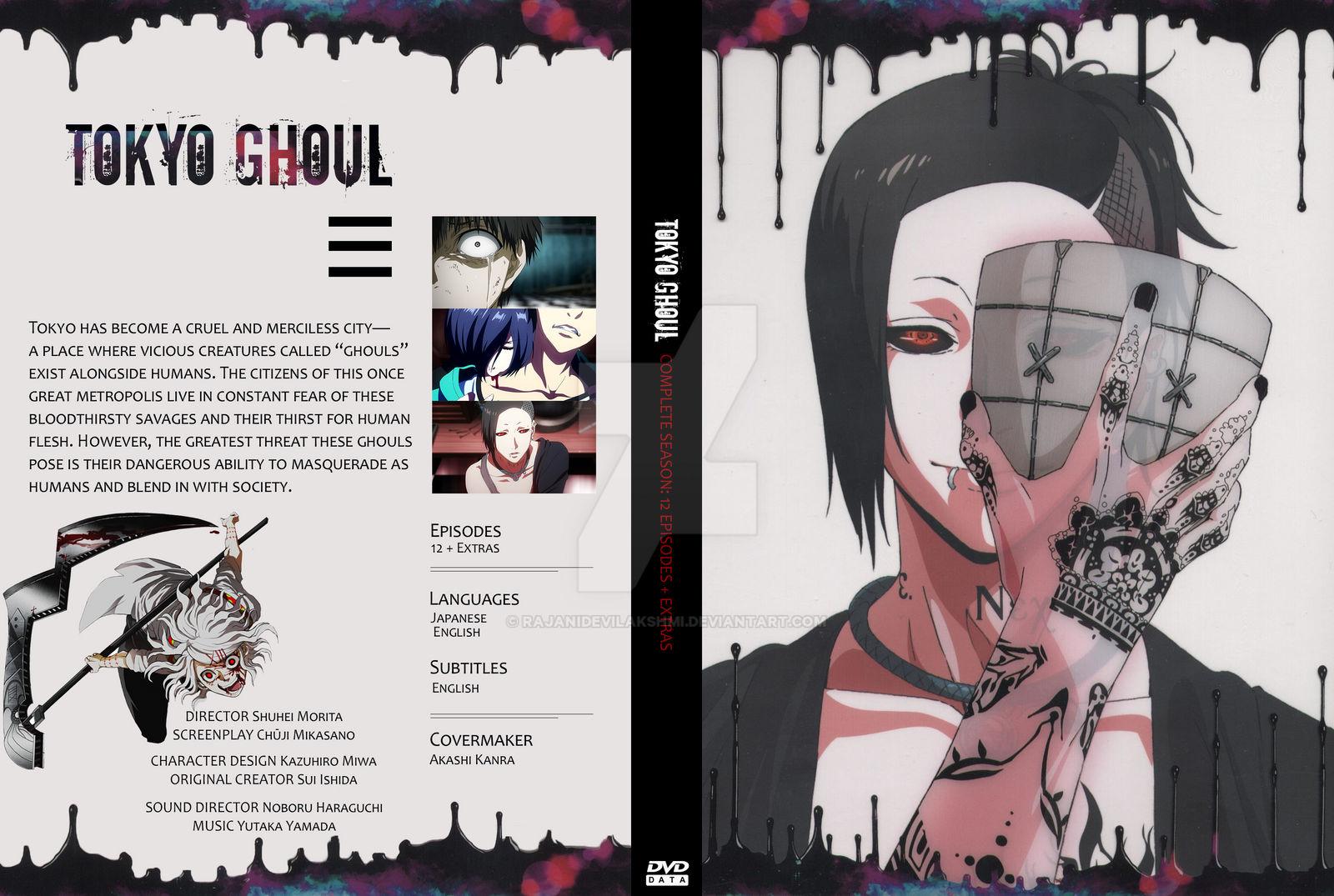 Tokyo Ghoul Complete Season 1 DVD Cover by RajaniDeviLakshmi