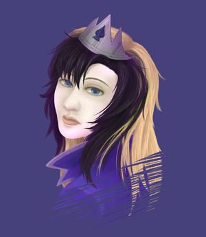 Comissions- Reina de espadas violet