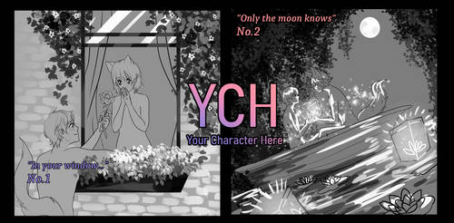 [OPEN-YCH]  Only the moon knows