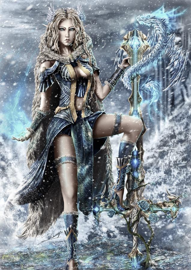 Priestess Elfe by ArisT0te