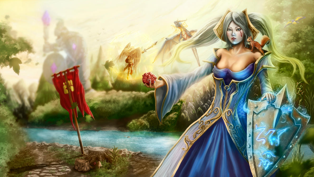 Sona and kayle by ArisT0te