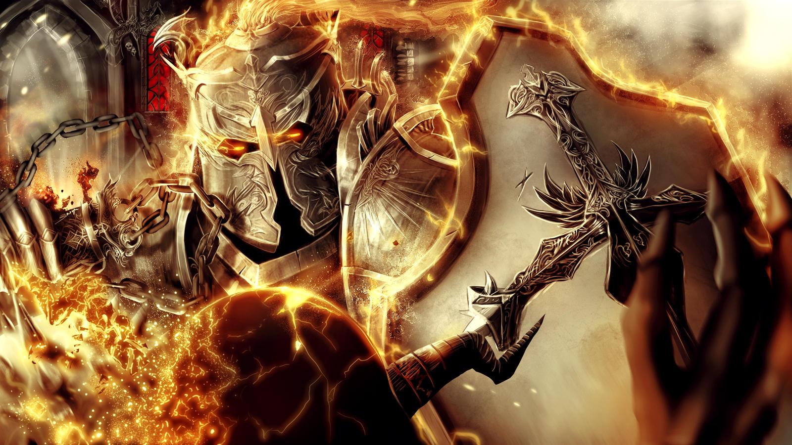 Burning Crusader by ArisT0te
