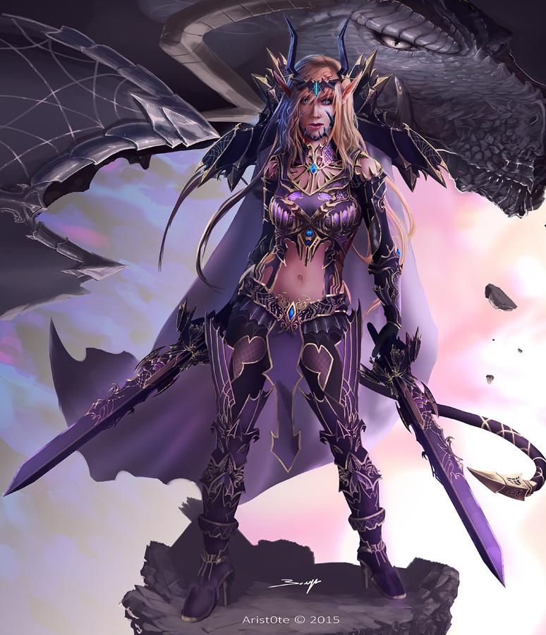 Elven warrior by ArisT0te