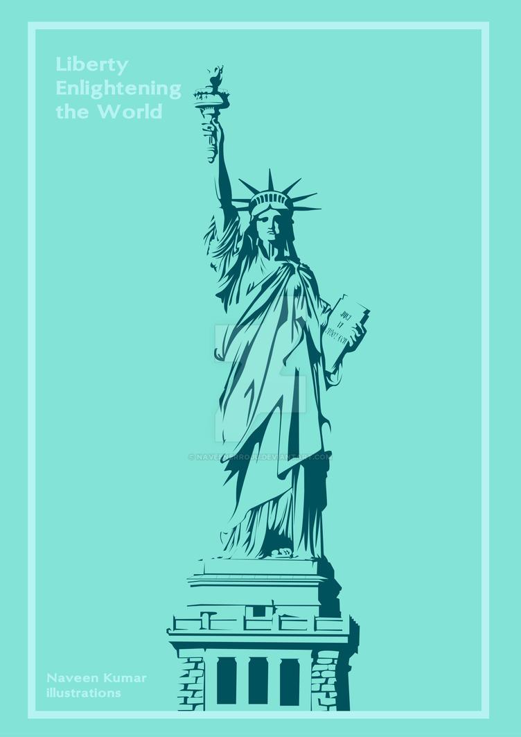 Liberty Statue Frame by naveenerroju