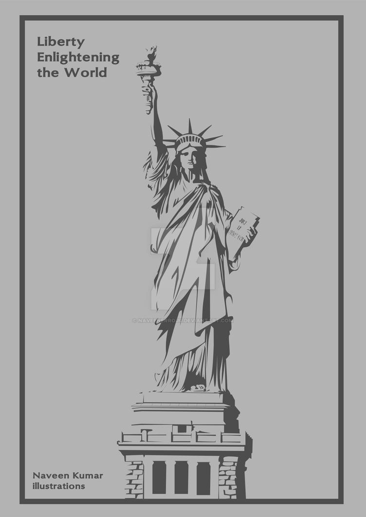 liberty wall poster by naveenerroju