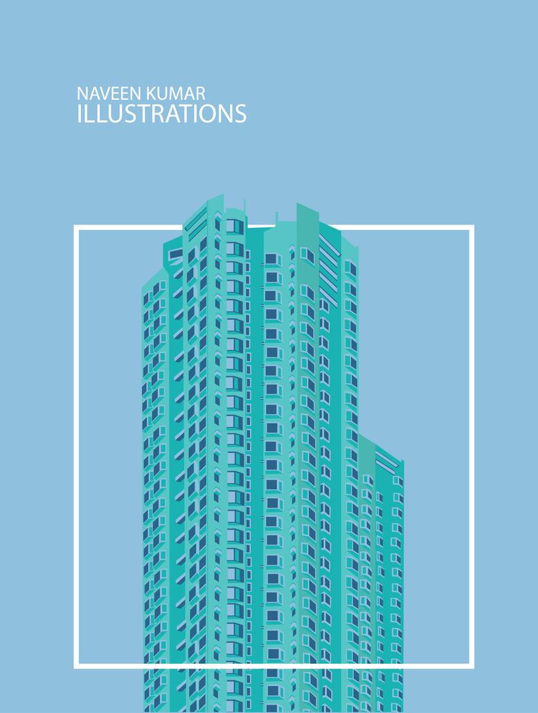 minimal building. by naveenerroju