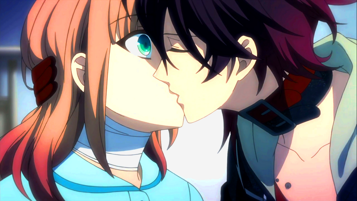 Amnesia - Heroine and Shin  Amnesia Anime Kiss