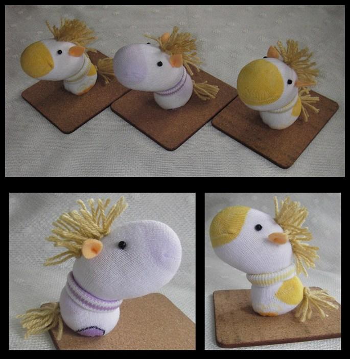 Yellow Purple Horse Sock Dolls By Httpecho On Deviantart