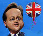Caricature of David Cameron by Jeff Bell