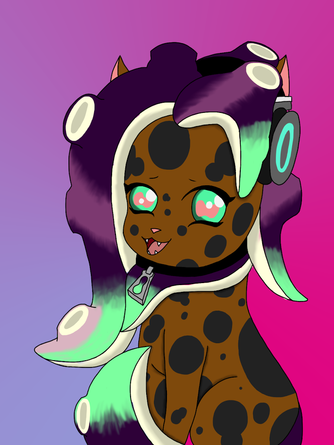 Marina the octocat - Splatoon by Eveleencat