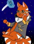 Bonus art: 707 as a cat