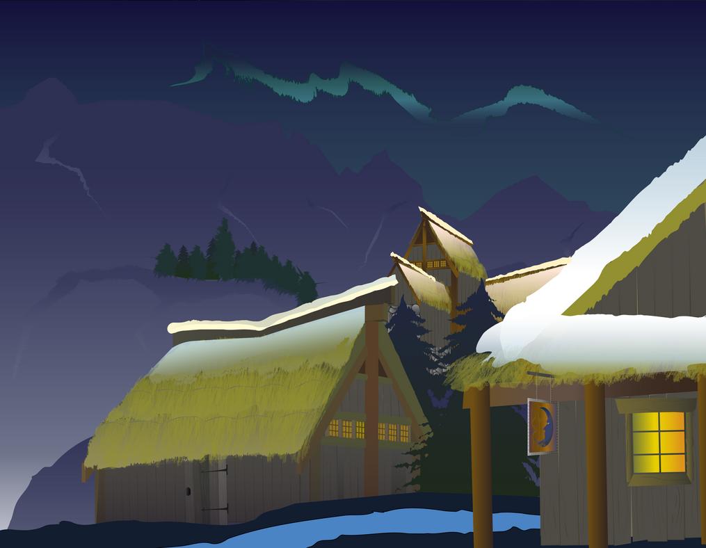 Landscape Winter by Artboozyboy