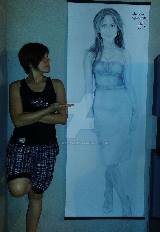 Jennifer Lopez - Natural size by Jeja1995