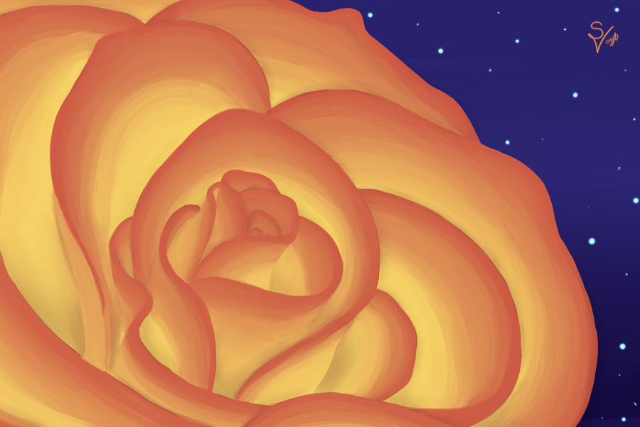 Sunset Rose by SOSArtStuff