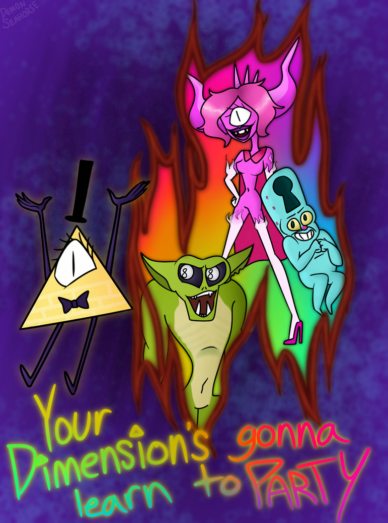 (redraw) Your Dimension's Gonna Learn to Party! by Demon-Seahorse