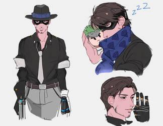 mystery man by BJMAKI