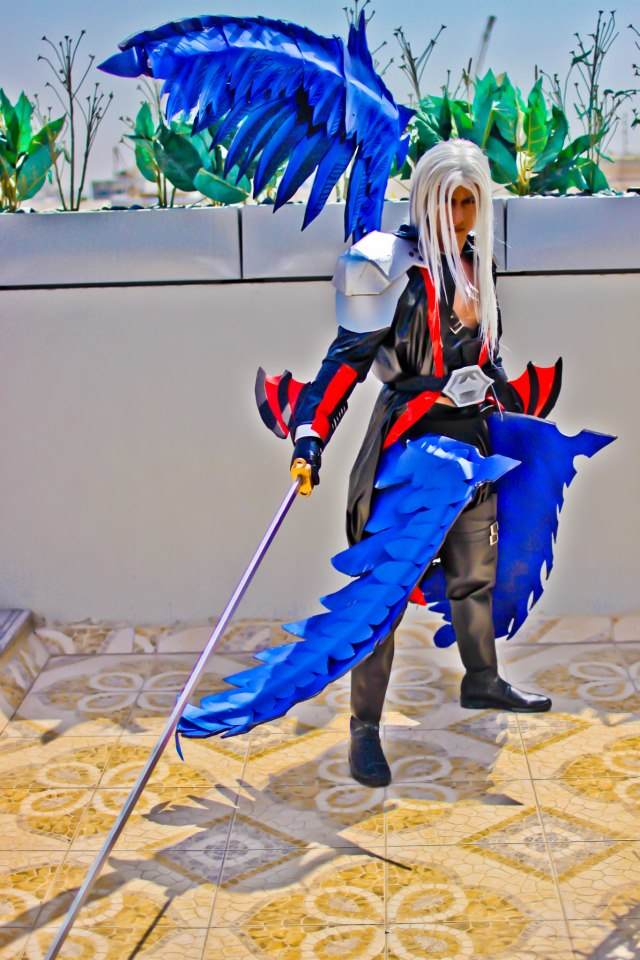 Sephiroth KH2 Cosplay - Photoshoot 2 by vega147