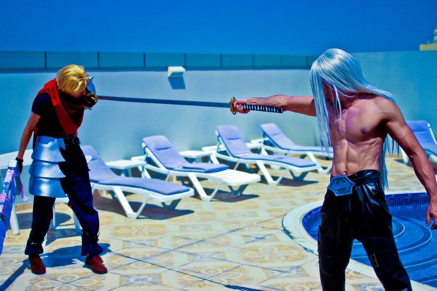 Sephiroth KH2 Cosplay - Photoshoot 4 by vega147