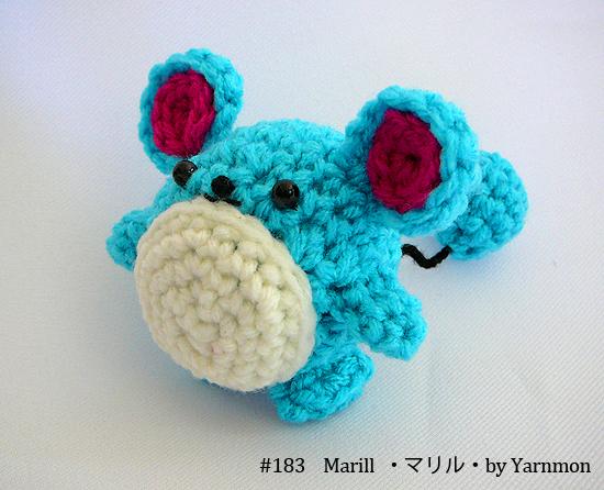 Marill Pokemon Amigurumi by yarnmon