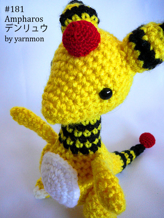 Ampharos Pokemon Amigurumi by yarnmon on DeviantArt