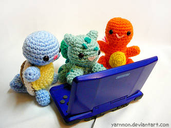 Generation 1 - Pokemon Nostalgia Amigurumi by yarnmon