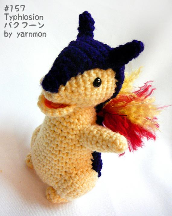 Pokemon Amigurumi Deutsch : Typhlosion Pokemon Amigurumi by yarnmon on DeviantArt