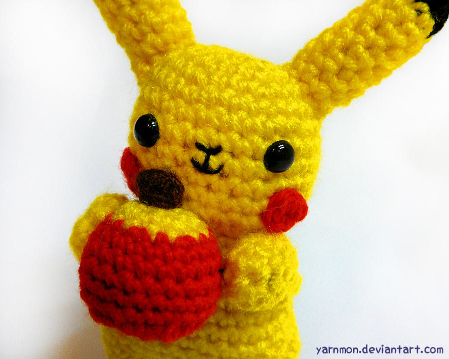 Amigurumi Free Patterns Bunny : Pikachu Pokemon Amigurumi by yarnmon on DeviantArt