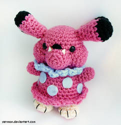Snubbull Amigurumi Plush by yarnmon