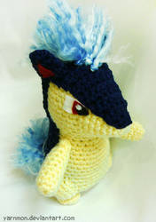 Quilava Amigurumi Plush by yarnmon